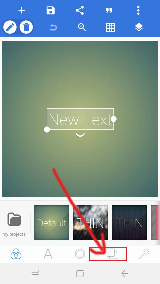 how to write a text on image in android