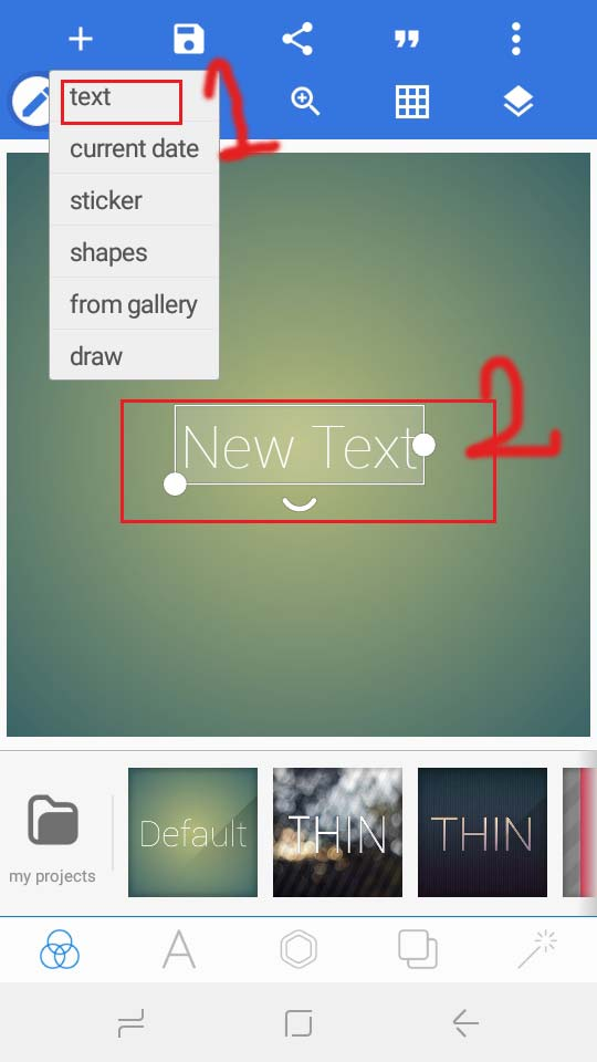 how to write text on image in android